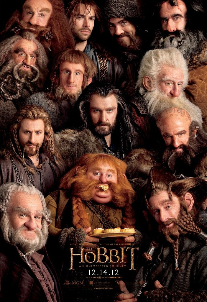 [Cine] 13 enanos en un solo poster del Hobbit!