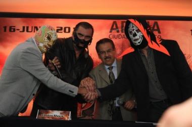 [Deportes] Conferencia de Prensa de AAA: Triplemania XXI