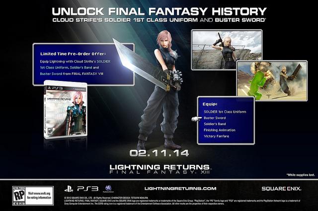 [Juegos] Podrás vestir a Lightning como Cloud en Lightning Returns: Final Fantasy XIII