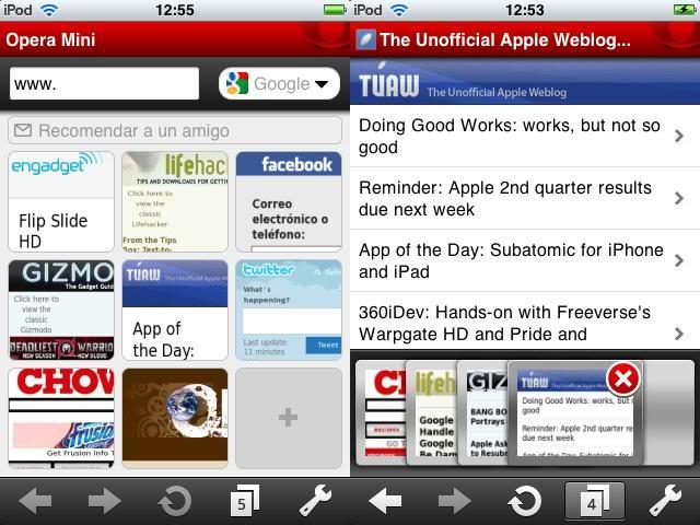 Review Opera Mini para iPhone