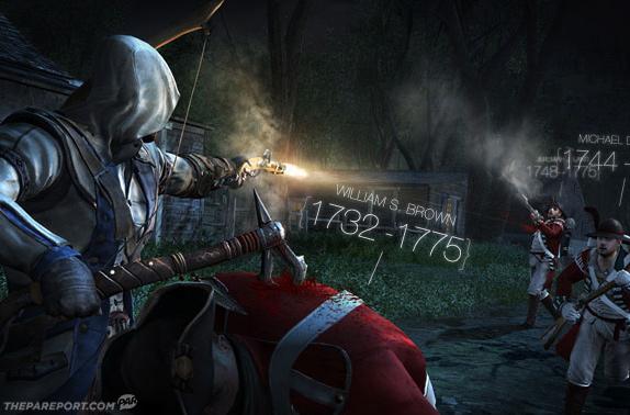 [Juegos] Todas las muertes en Assasins Creed III serán de personajes históricos
