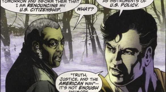 Superman renuncia a la ciudadania Estadounidense.