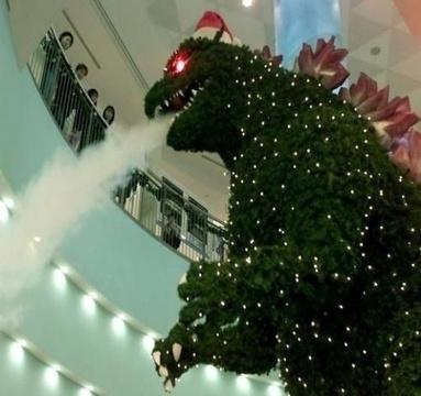 [Japonadas] Godzilla decora la Navidad
