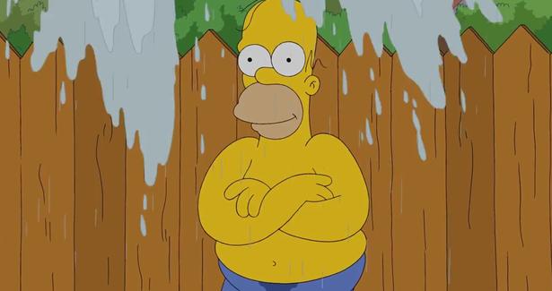 [Internet/Güat?!] Homero toma el reto del cubo de hielo (Pero Charlie Sheen lo hace mejor)