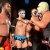 El Invader #1 (Extrema derecha) se dirige al Sensacional Carlitos, Galáctico, El Cuervo, El Nuevo Fenómeno Gange y Diamond Slash (Parte del Talento Joven de la WWL)