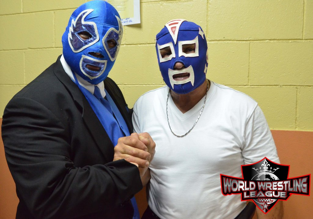Su Majestad El Profe, Angel Rivera Pantoja, junto a otro Inmortal, El Invader #3, Johnny Rivera.