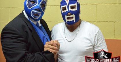 Su Majestad El Profe, Angel Rivera Pantoja, junto a otro Inmortal, El Invader #3, Johnny Rivera.