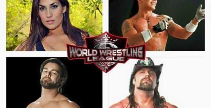 La cotizada luchadora femenina Rosie Lottalove, Juventud Guerrera, PJ Black AKA Justin Gabriel y Cowboy James Storm.