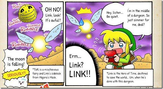 [Juegos] Nintendo publica primer webcomic de comedia de Majora's Mask.