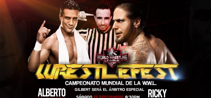 """WWL: """"Ricky Banderas y Alberto El Patrón, hagan una lucha de 5 estrellas, que yo voy a ser un árbitro justo e integro en Wrestlefest"""": Gilbert"""