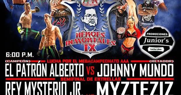 [Deportes] Este es el Cartel para AAA: Héroes Inmortales IX